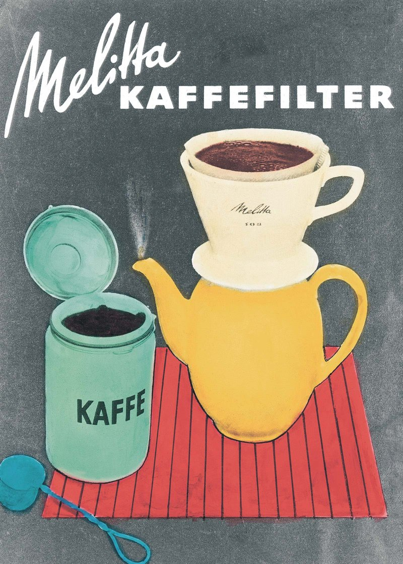 Melitta® coffee filter vintage poster